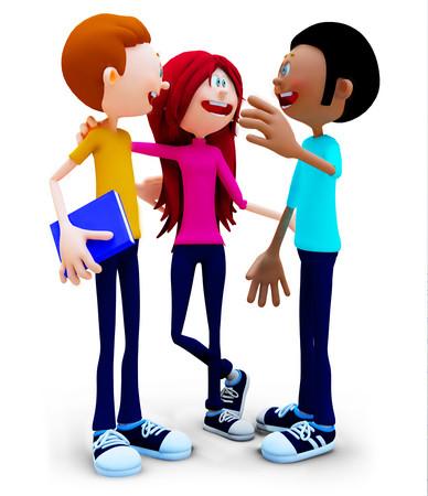TEENS TALKING CLIPART