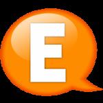 speech-balloon-orange-e-icon