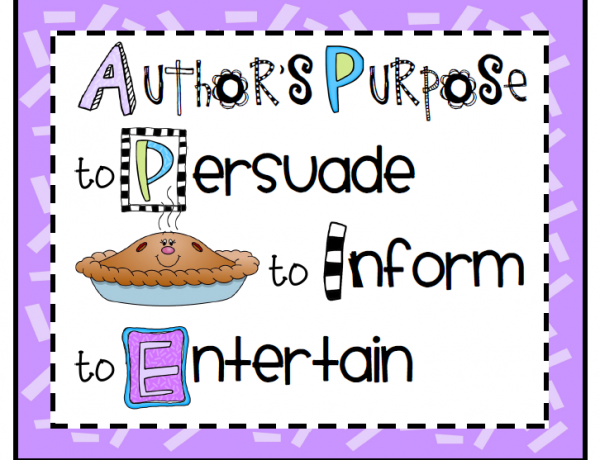 Author's Purpose:  Why should we care?